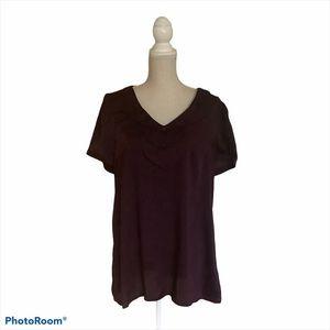 ModCloth 100% Polyester Purple Blouse